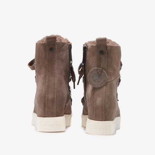 Back View of J/SLIDES Women's Whitney Bootie Sneakers
