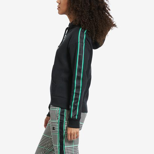Right Side View of Champion Women's Life Reverse Weave Pullover Hoodie With Houndstooth Logo