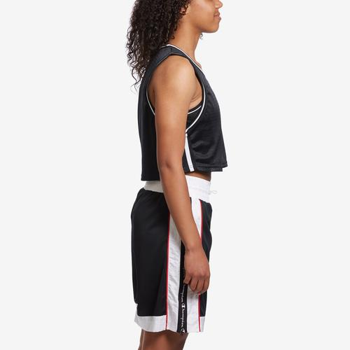 Right Side View of Champion Women's Life Reversible Mesh Cropped Tank