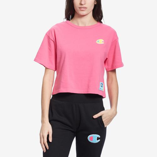 Front View of Champion Women's Life Crop Tee