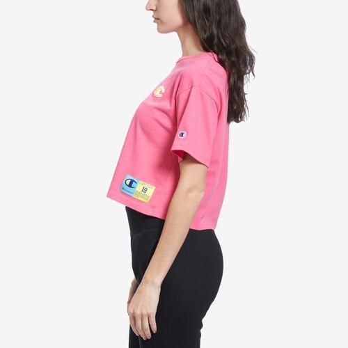 Right Side View of Champion Women's Life Crop Tee