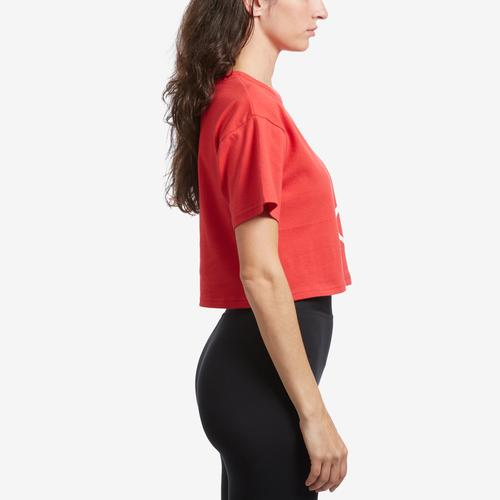 Right Side View of Champion Women's Life Crop Tee, Shadow C