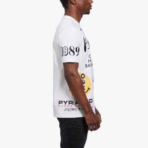 Left Side View of BLACK PYRAMID Men's World Famous Logo Tee