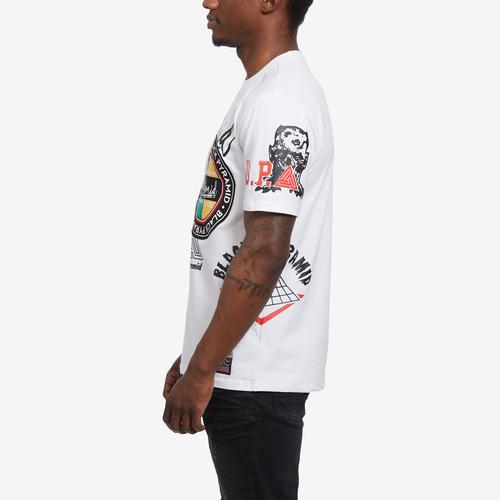 Right Side View of BLACK PYRAMID Men's World Famous Logo Tee