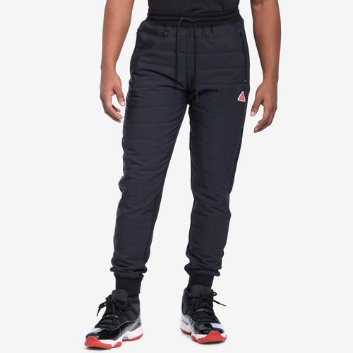 Front View of BLACK PYRAMID Men's Quilted Nylon Panel Pant