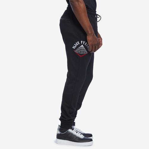 Left Side View of BLACK PYRAMID Men's World Famous Logo Pant
