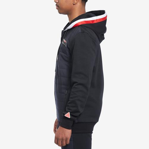 Right Side View of BLACK PYRAMID Men's Quilted Nylon Panel Hoody
