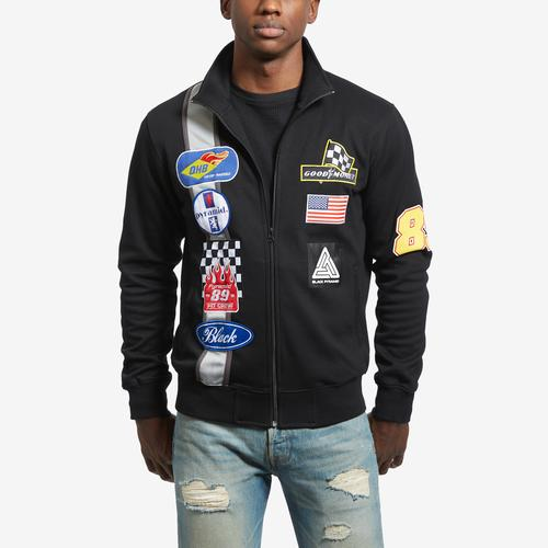 Front View of BLACK PYRAMID Men's Grease Monkey Track Jacket