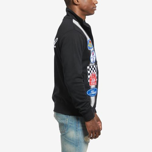 Left Side View of BLACK PYRAMID Men's Grease Monkey Track Jacket