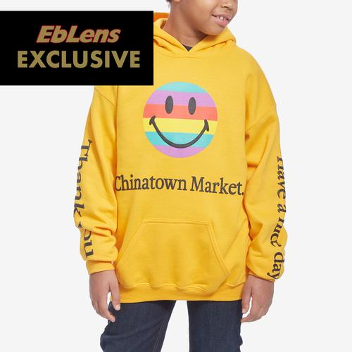 Front View of Chinatown Market Boy's Preschool Smiley Tech Hoodie