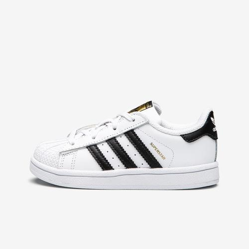 Left Side View of adidas Boy's Toddler Superstar Sneakers