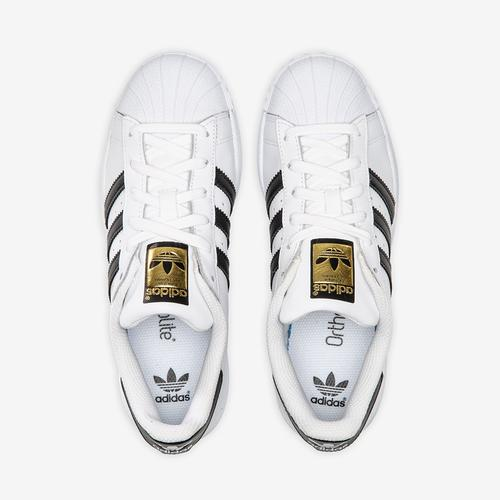 Bottom View of adidas Boy's Grade School Superstar Sneakers