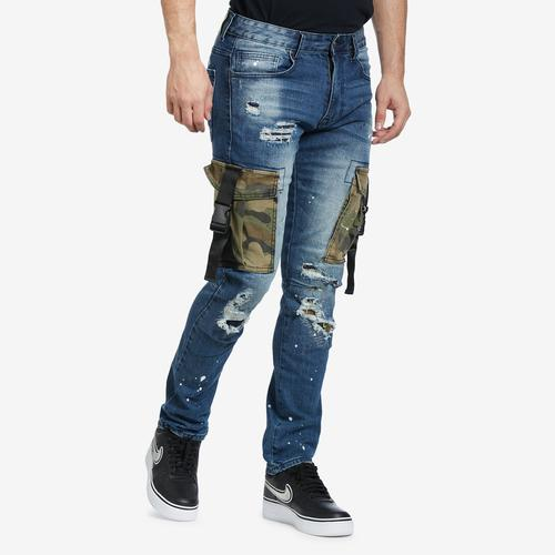 Front View of Smoke Rise Men's Camo Utility Pocket Jean