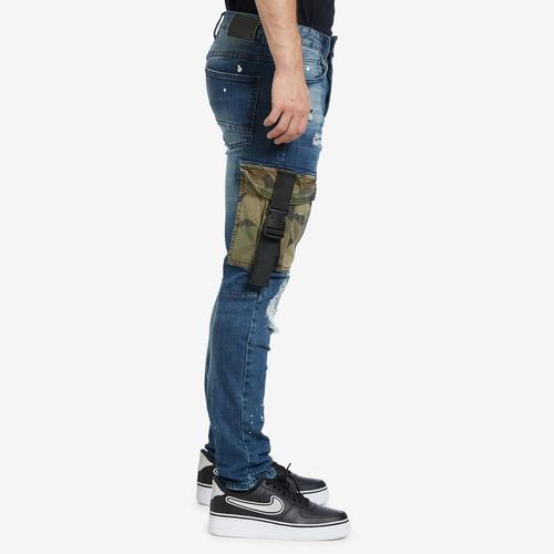 Right Side View of Smoke Rise Men's Camo Utility Pocket Jean