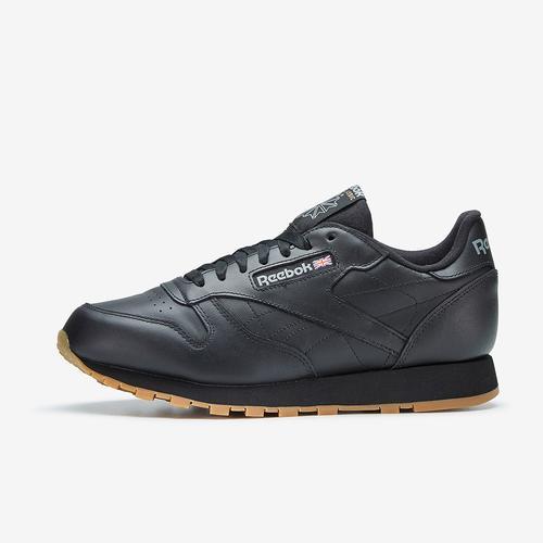 Left Side View of Reebok Boy's Grade School Classic Leather Sneakers